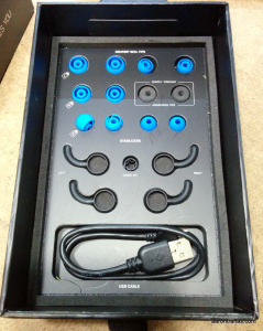 In the box of the BlueAnt Pump HD