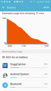 Example podcast battery curve