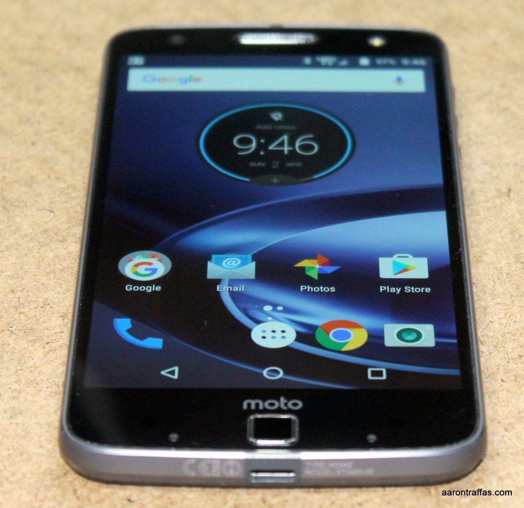 Moto Z Force Droid has large bottom bezel for fingerprint reader