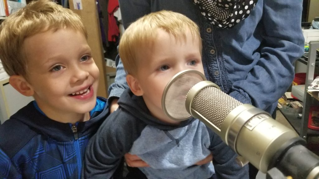 Podcasters in training