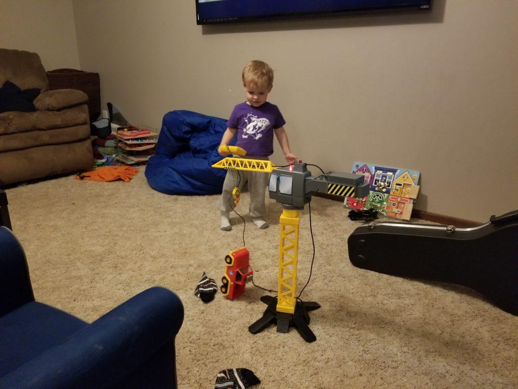 Using the crane