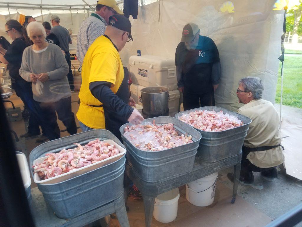 Shrimp peel for Special Olympics