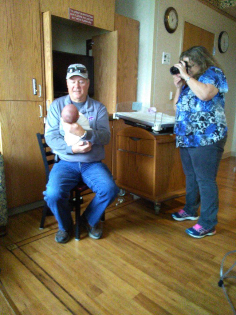 Proud grandparents