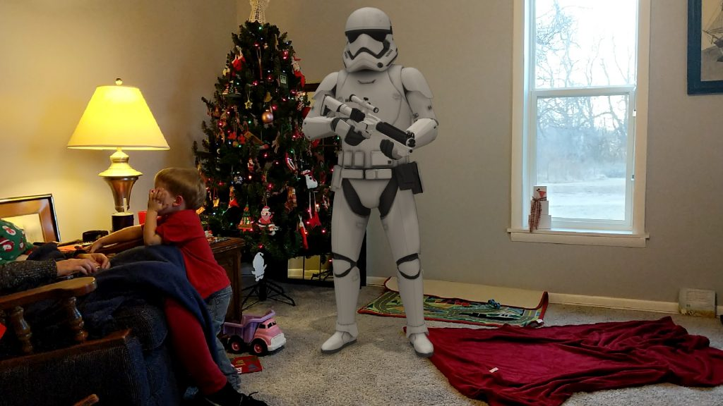 Kids had to hide from the Storm Trooper