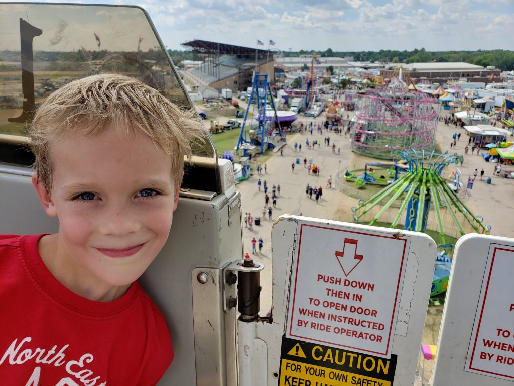 Nolan on the Ferris wheel
