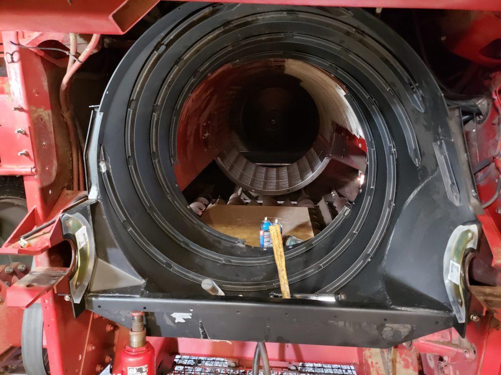 Inside the combine