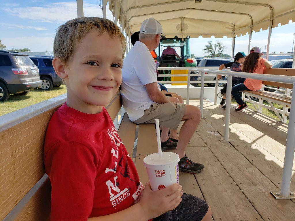 Nolan  at the fair